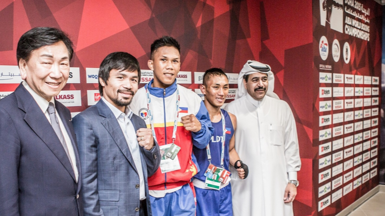 The Philippines' Ladon inspired to surprise victory by compatriot Pacquiao on day three of the AIBA World Boxing Championships